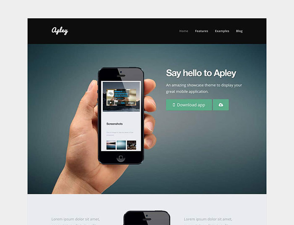 Apley - A Mobile Application Landing Page | Technology