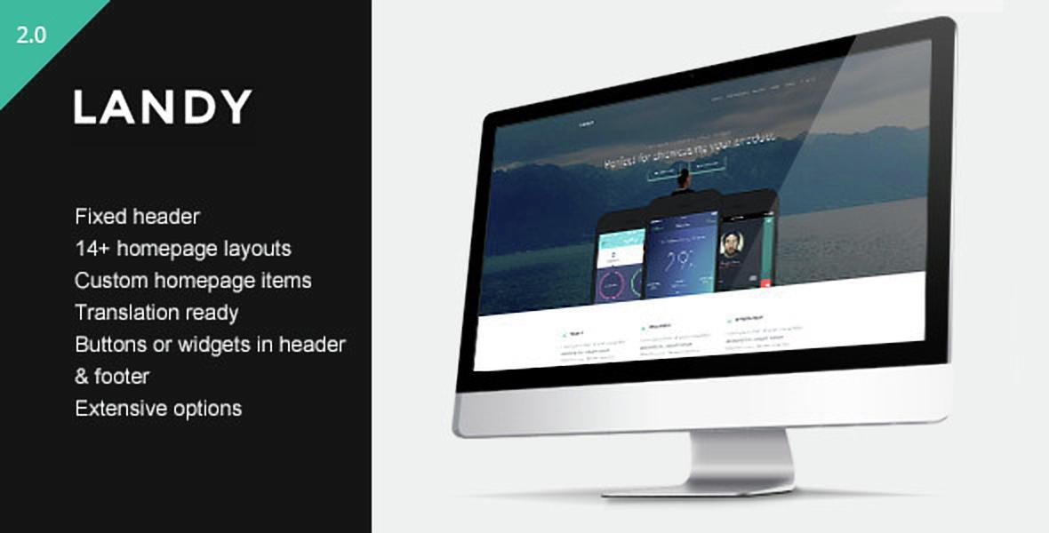 Landy - Clean & Sleek Landing Page Theme