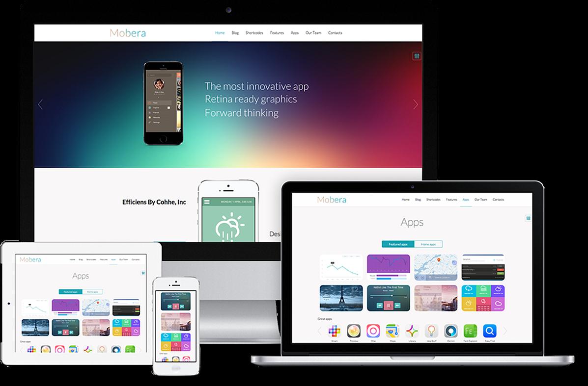 Mobera Premium App Showcase WordPress Theme