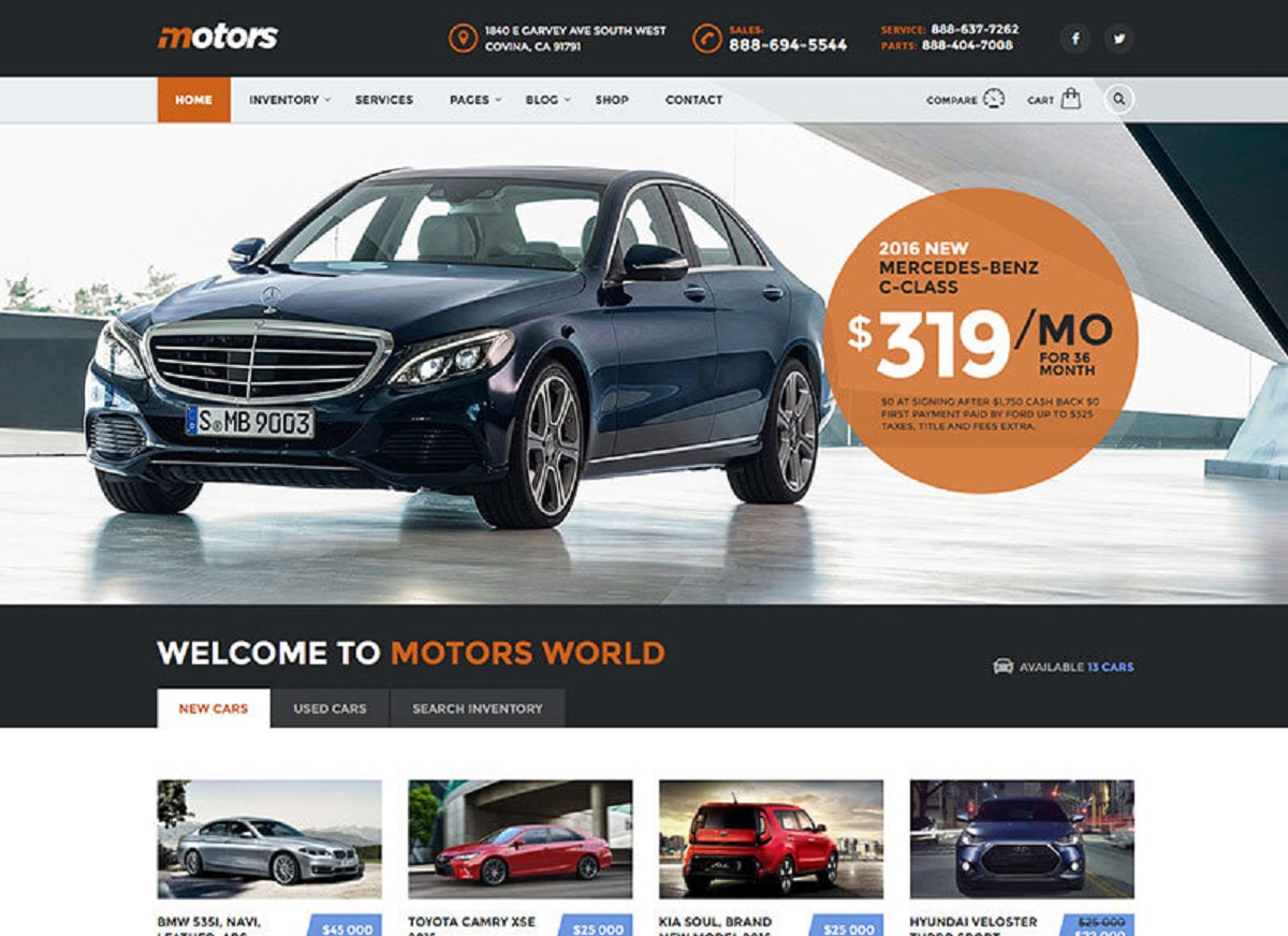 Motors Listing WordPress Theme