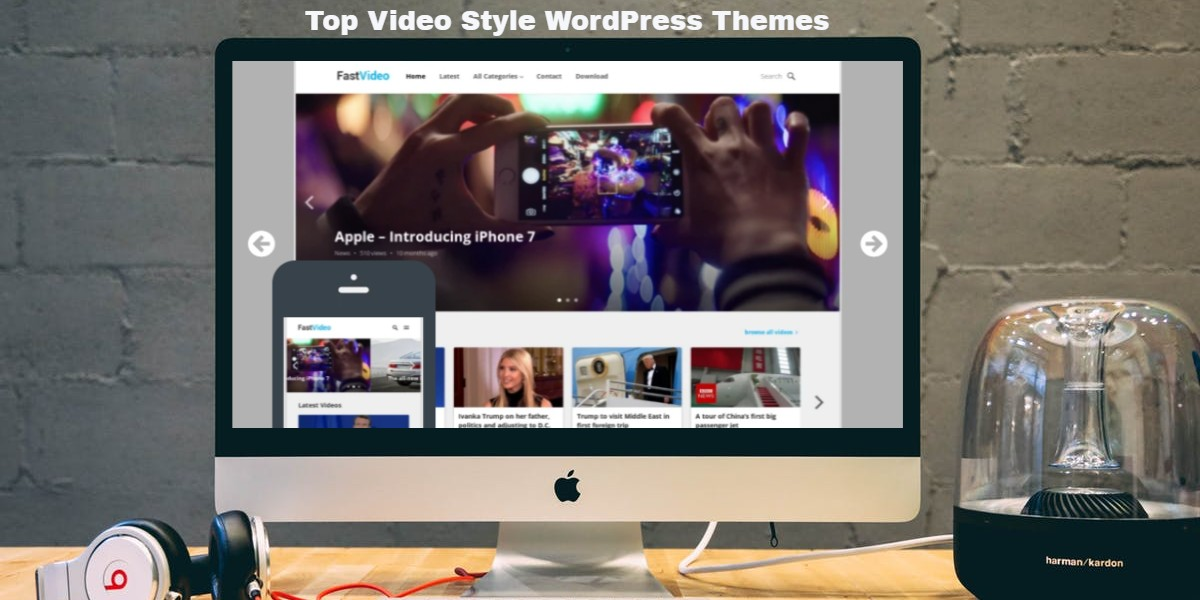 Top Video Style WordPress Themes