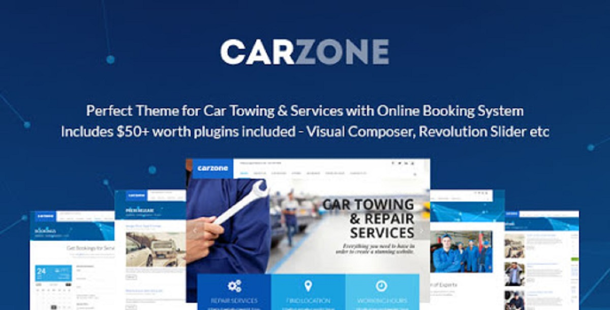 V.1.0 - Towing & Repair WordPress Theme Free Download