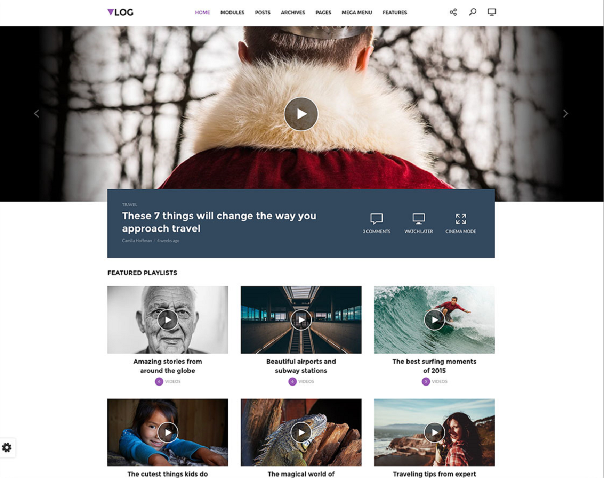 Vlog - A Video WordPress Theme Designed For High Quality Media
