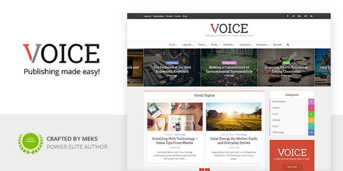 Voice WordPress News/Magazine Theme