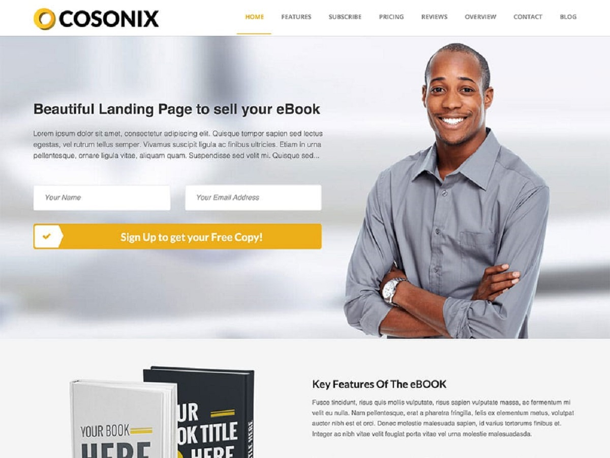 Cosonix - One Page Theme For eBook