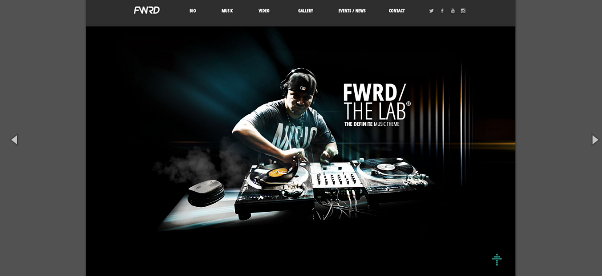 FWRD - A Responsive Music Theme Fitted For WordPress