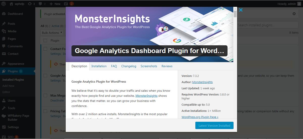 Google Analytics MonsterInsights