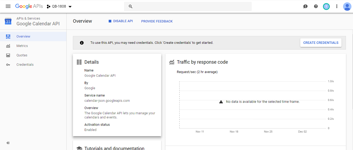 Google Calender API