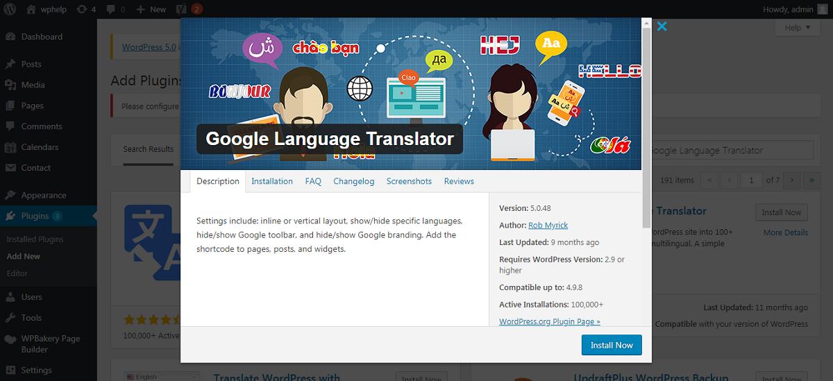Google Language Translator