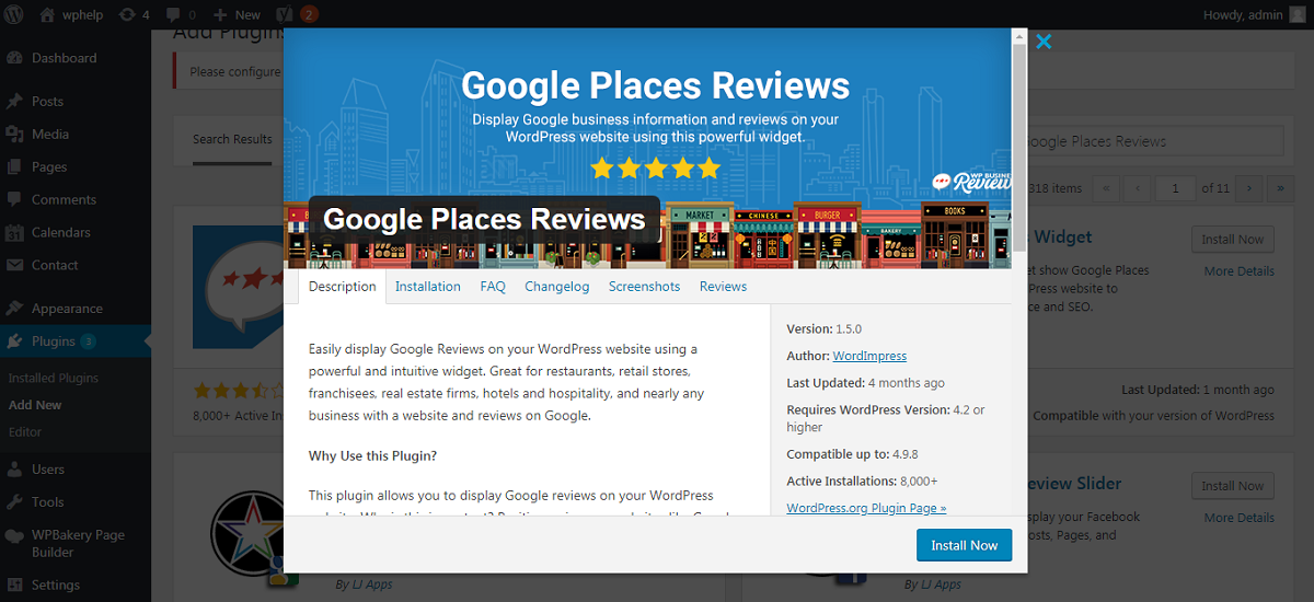 Google Places Reviews