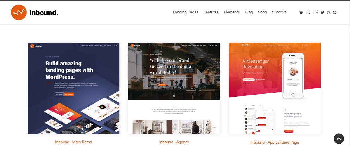 Inbound v1.2.16 - Responsive WordPress Landing Page Theme