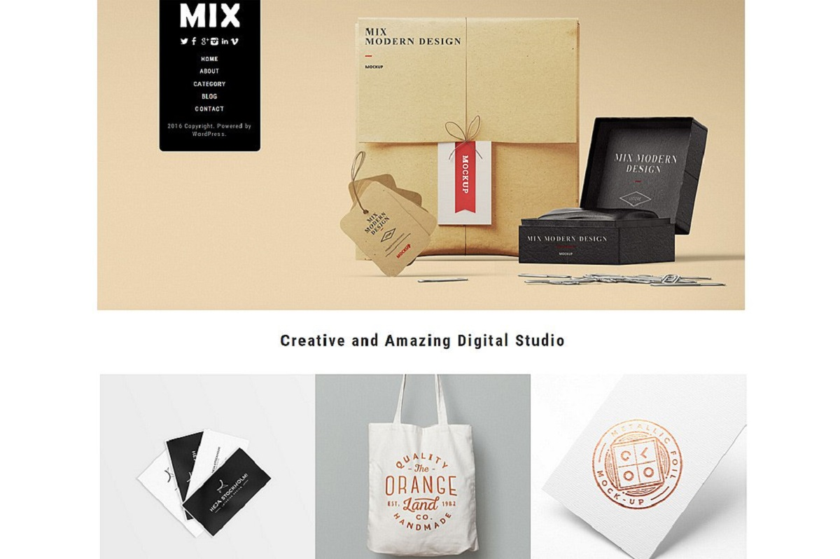 Mix - A Comprehensive WordPress Theme For The Modern Day Artist