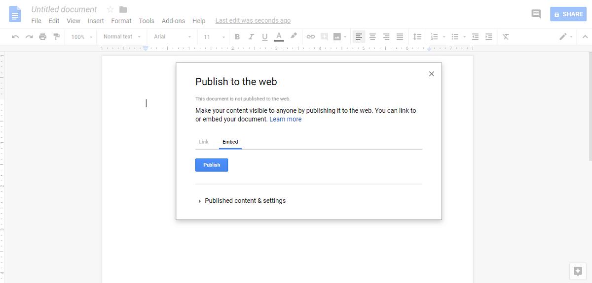 Publish to Web