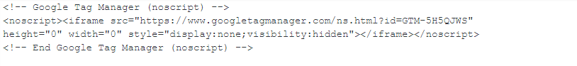 Tag Manager Script
