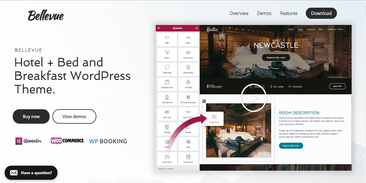Bellevue Hotel WordPress Theme