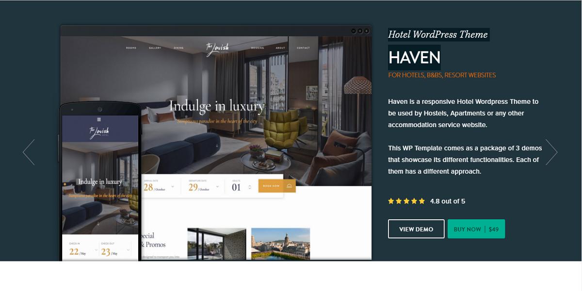 Hotel WordPress Theme Haven