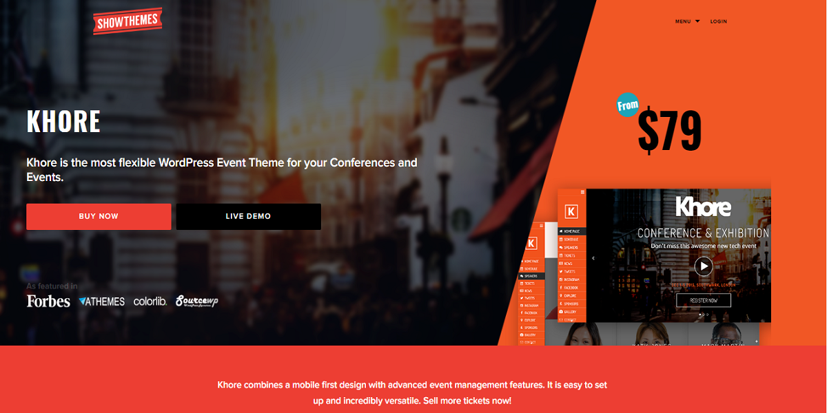Top 10 Event Style WordPress Themes | Conference, Management