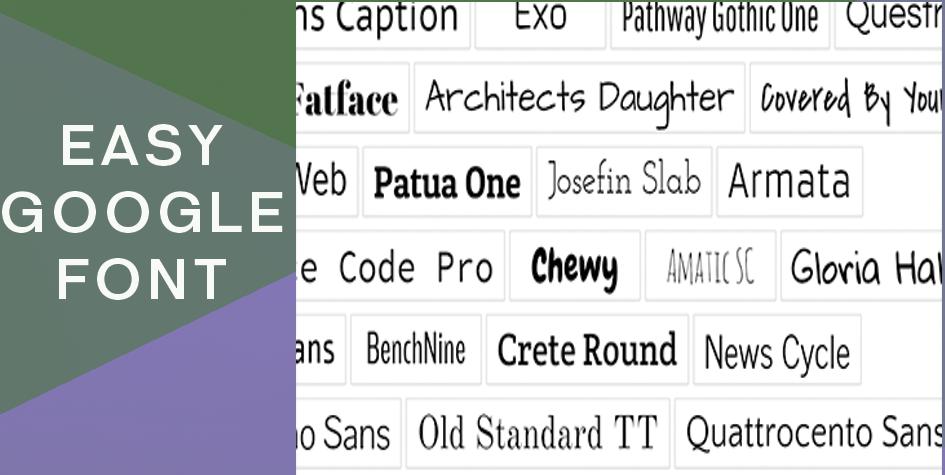 Easy google font
