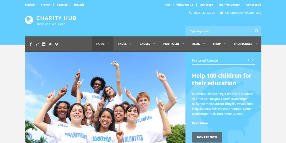 Charity Hub-Charity-Nonprofit-Fundraising