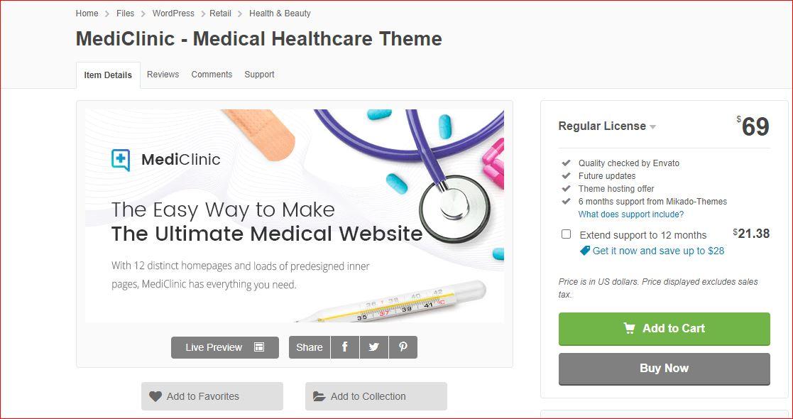 MediClinic wordpress theme