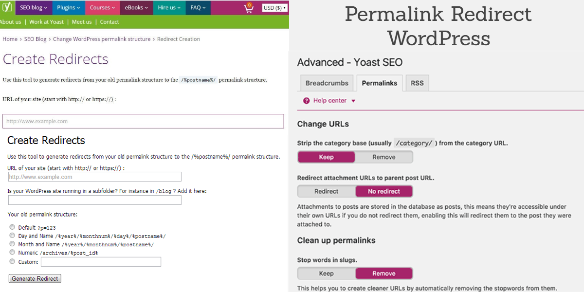 Permalink Redirect WordPress