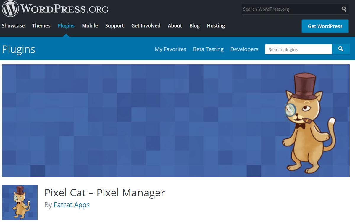 Pixel Cat WordPress plugin