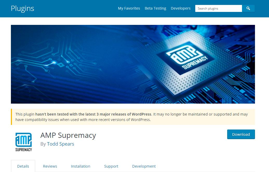 AMP supremacy plugin
