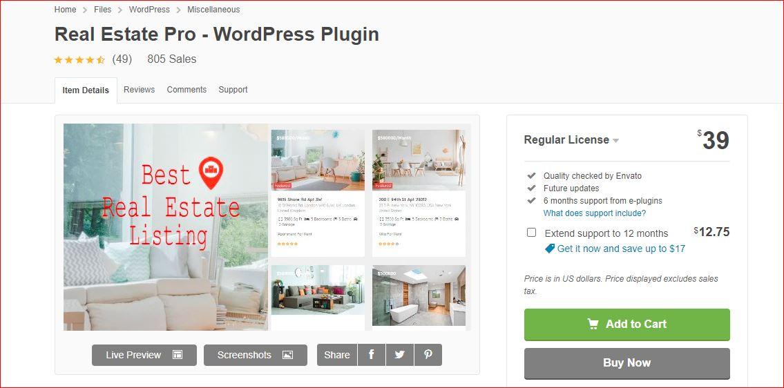 Real estate Pro plugin