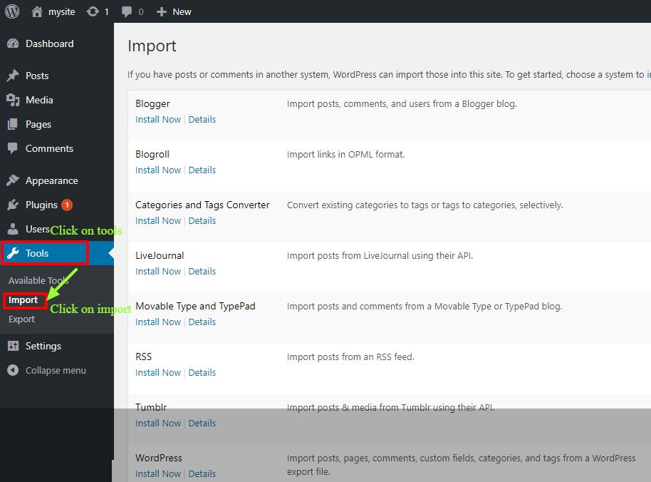 Settings-Tool-Import