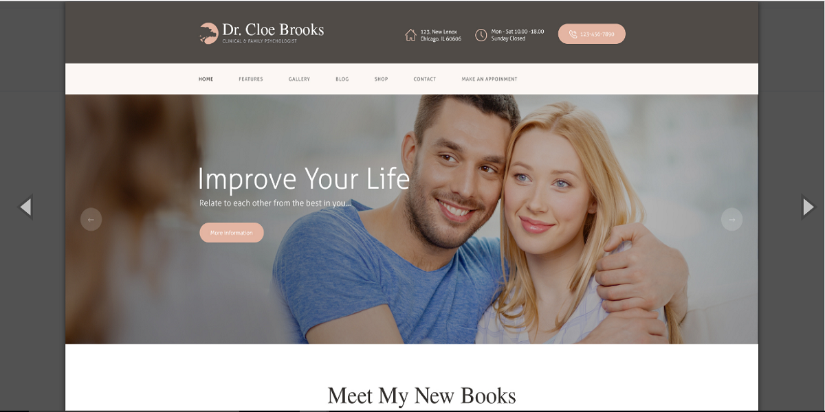 Cloe Brooks - Psychology, Counseling & Medical WordPress Theme