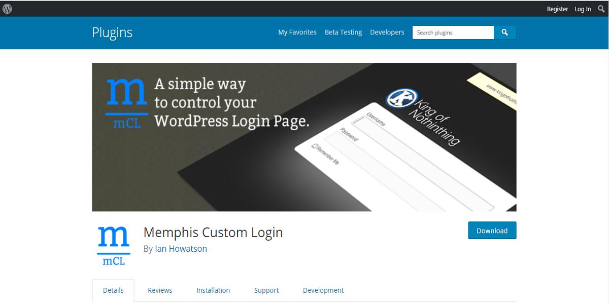 Memphis Custom Login