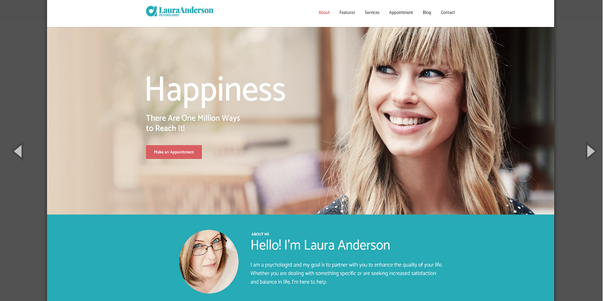 Psychologist, Therapy and Counseling WordPress Theme