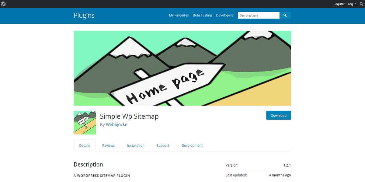 Simple WordPress Sitemap