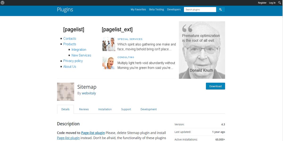 Sitemap Plugins