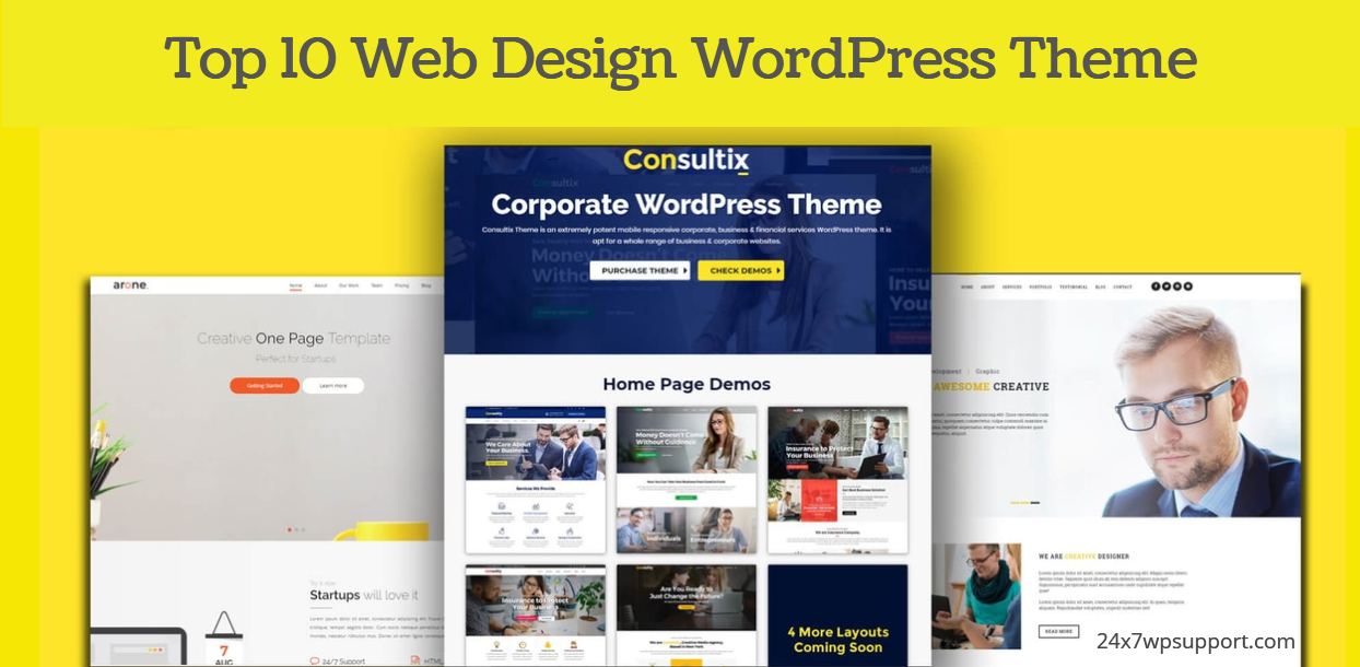 Top 10 Web Design WordPress Theme