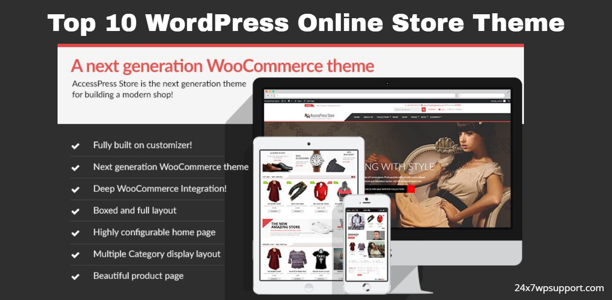 Top 10 WordPress Online Store Theme