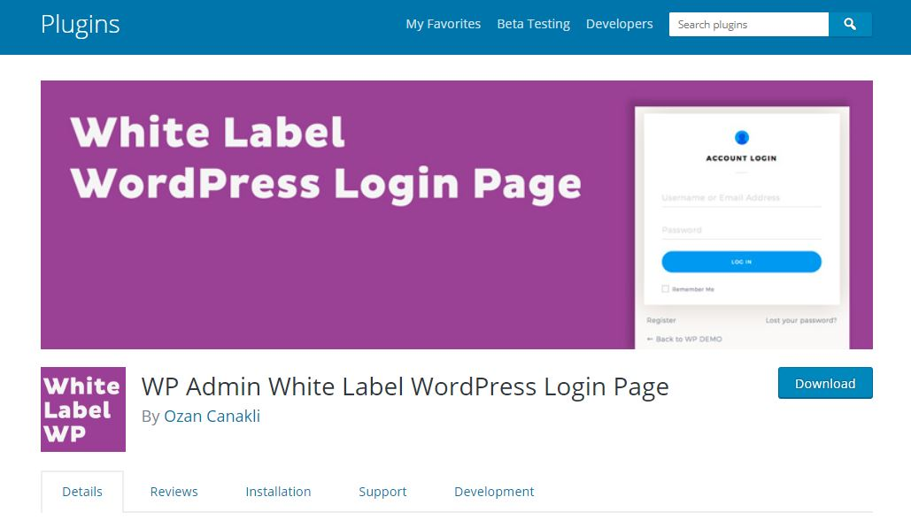 WP-admin white label login
