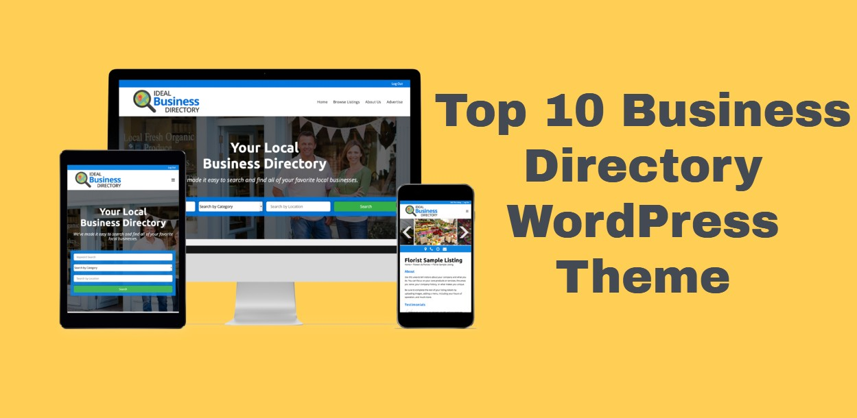 Top 10 Business Directory WordPress Theme | Listing Local or