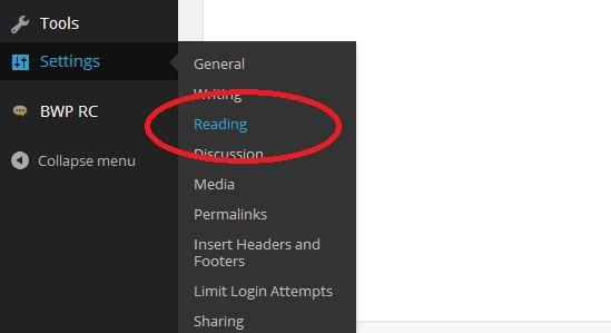 wp Readings setting