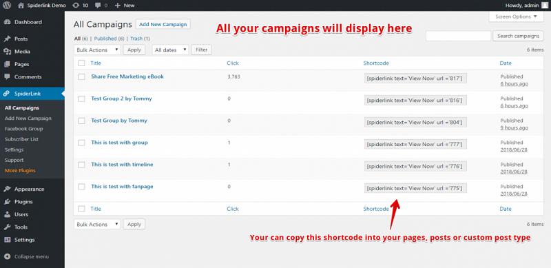 Facebook Spiderlink All Campaign
