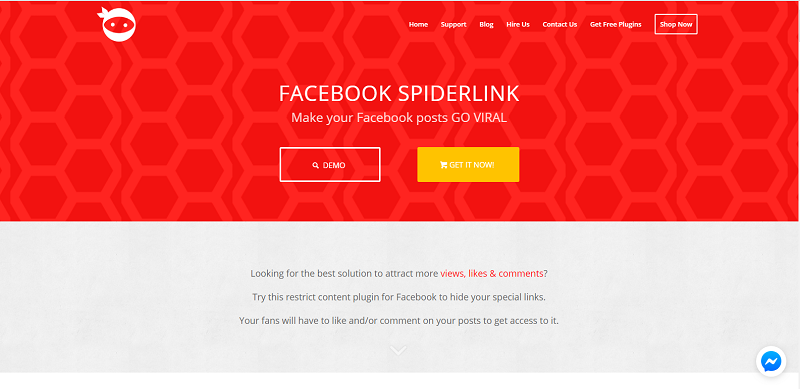 Facebook Spiderlink Plugin