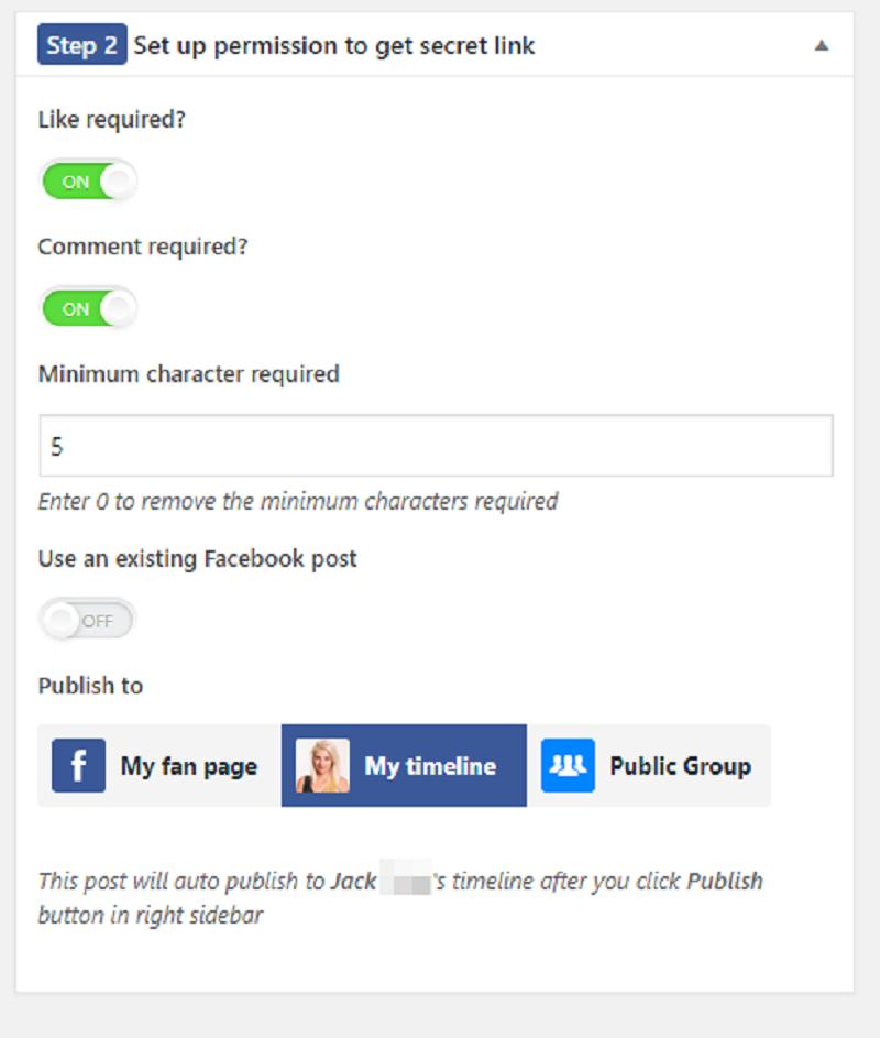 Facebook Spiderlink Set Up Permission