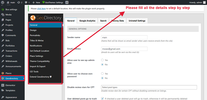 Now show your Plugin and fill all the details step by step