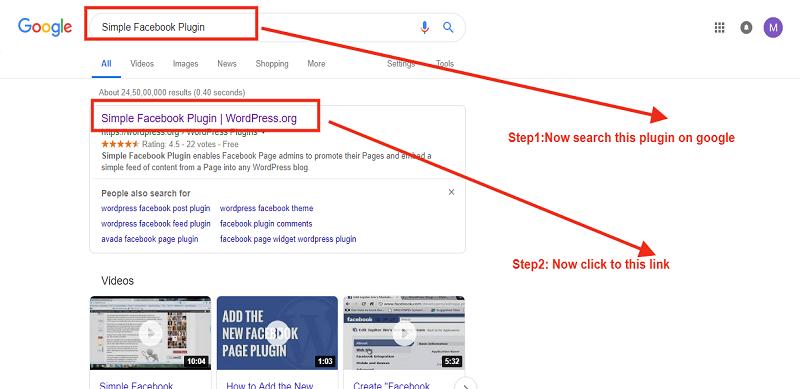 Search Simple Facebook Plugin