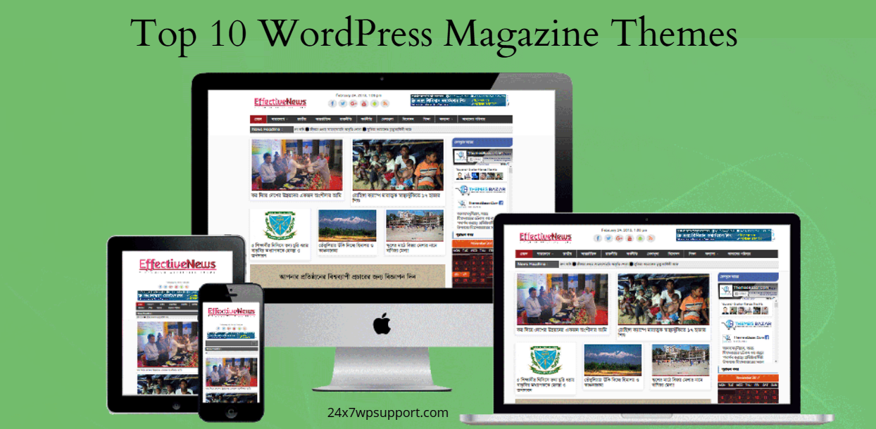 Top 10 WordPress Magazine Themes