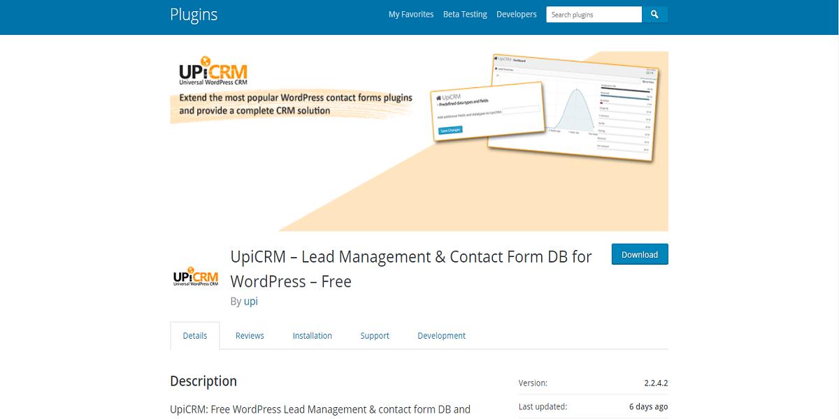 UpiCRM – Lead Management Plugin