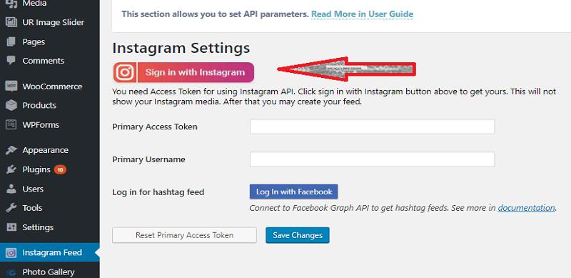 10Web Instagram Feed Dashboard