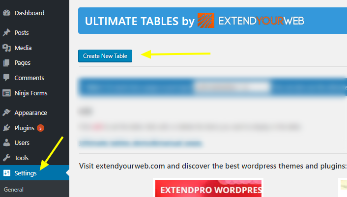 Ultimate tables