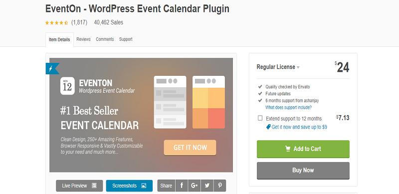 EventOn Plugin Buy Now