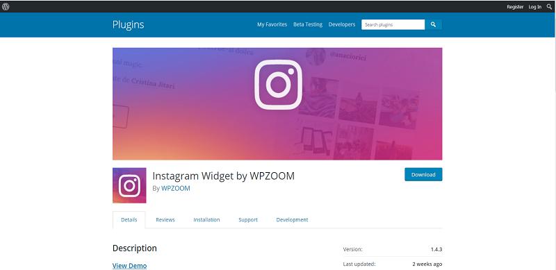 Instagram Widget by WPZOOM